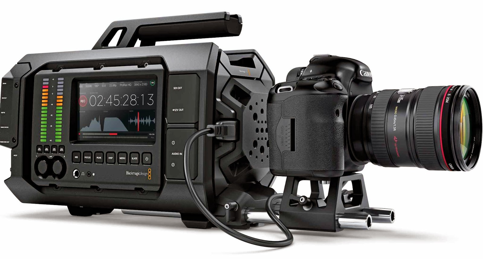 Blackmagic Ursa HDMI with DSLR